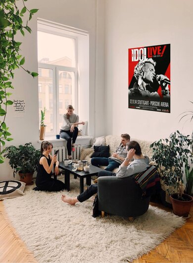 Billy Idol - Kings & Queens , Stuttgart 2014 - Konzertplakat