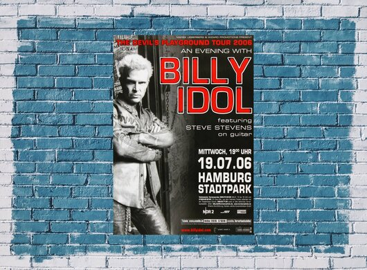 Billy Idol - Devils Playground , Hamburg 2006 - Konzertplakat