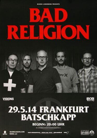 Bad Religion - Process Of Belief , Frankfurt 2014 - Konzertplakat