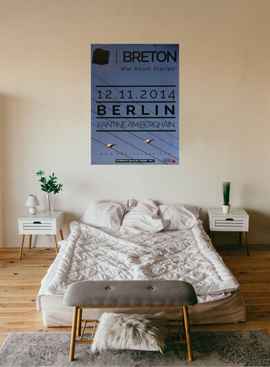 Breton - War Room Stories, Berlin 2014 - Konzertplakat