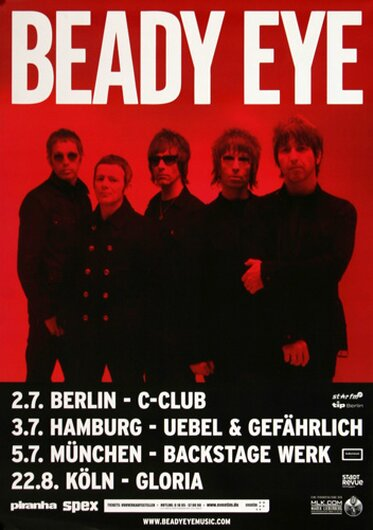Beady Eye - Soul Love, Tour 2013 - Konzertplakat