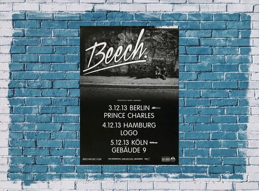 Beech - Lovers, Tour 2013 - Konzertplakat