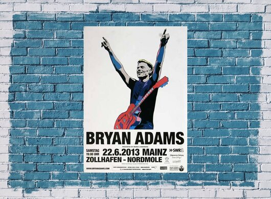 Bryan Adams - Live In , Mainz 2013 - Konzertplakat