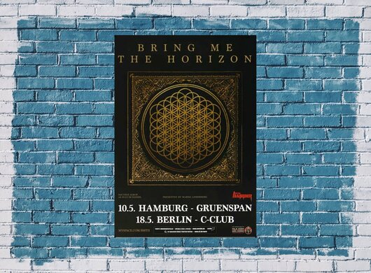 Bring Me The Horizon - Sempiternal, Hamburg & Berlin 2013 - Konzertplakat