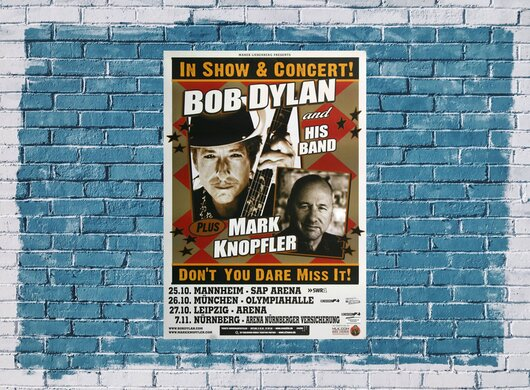 Bob Dylan & Mark Knopfler - Dont You Dare , Mannheim 2011 - Konzertplakat