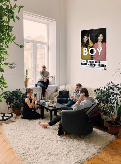 BOY - Mutual Friends, Hanau 2012 - Konzertplakat