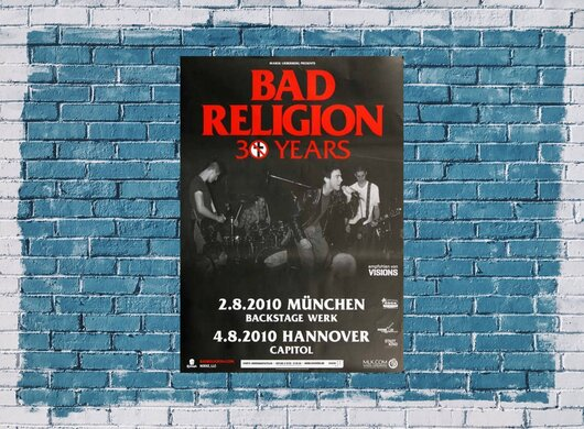 Bad Religion - 30 Years Mix, München & Hannover 2010 - Konzertplakat