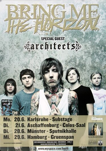 Bring Me The Horizon - Suicide Season, Tour 2011 - Konzertplakat