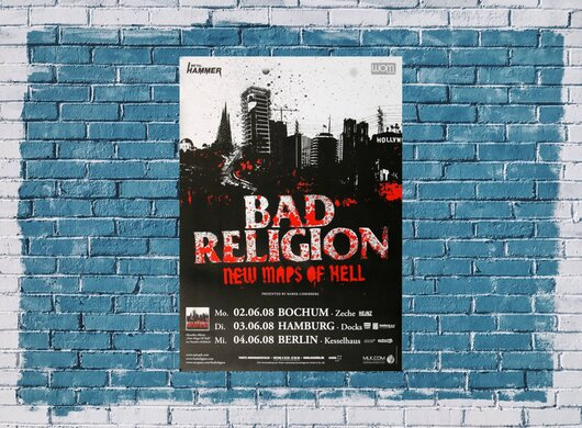 Bad Religion - New Maps Of Hell, Tour 2008 - Konzertplakat