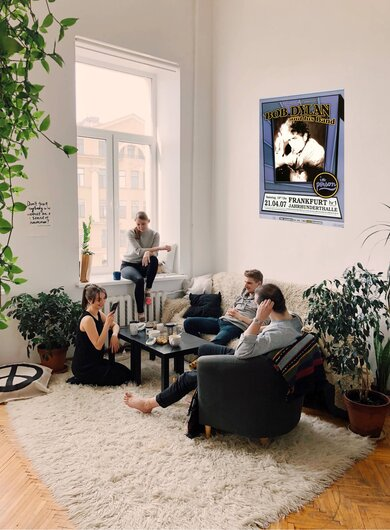 Bob Dylan and His Band - Modern Times, Frankfurt 2007 - Konzertplakat