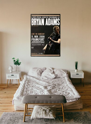 Bryan Adams - One World, Frankfurt 2009 - Konzertplakat