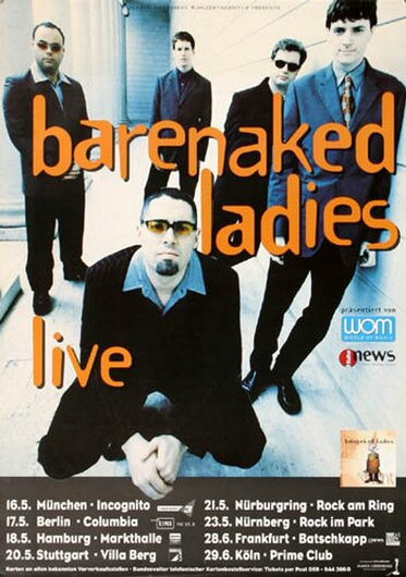 Barenaked Ladies - Stunt, Tour 2000 - Konzertplakat