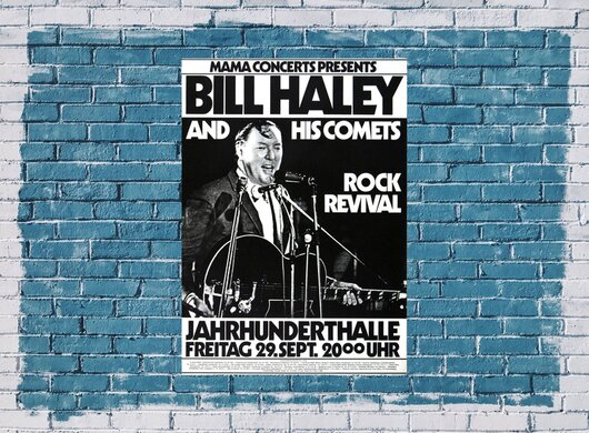 Bill Haley and his Comets - Rock Revival, Frankfurt  1972 - Konzertplakat