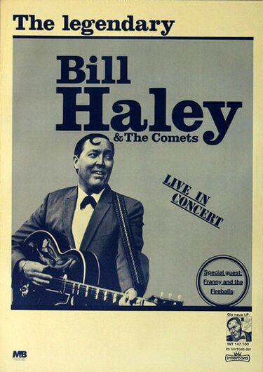Bill Haley and his Comets - Rock Around The Clock, Tour 1968 - Konzertplakat