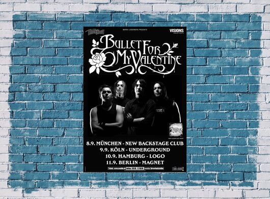 Bullet for My Valentine - Four Words, Tour 2005 - Konzertplakat