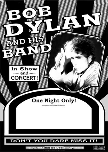 Bob Dylan and His Band - One Night Only,  2005 - Konzertplakat