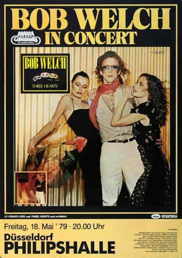 Bob Welch - French Kiss, Düsseldorf 1979 - Konzertplakat