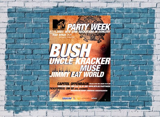 Bush - Party Week, Tour 2001 - Konzertplakat