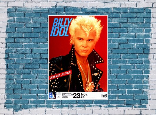 Billy Idol - Charmed Life, Frankfurt 1990 - Konzertplakat