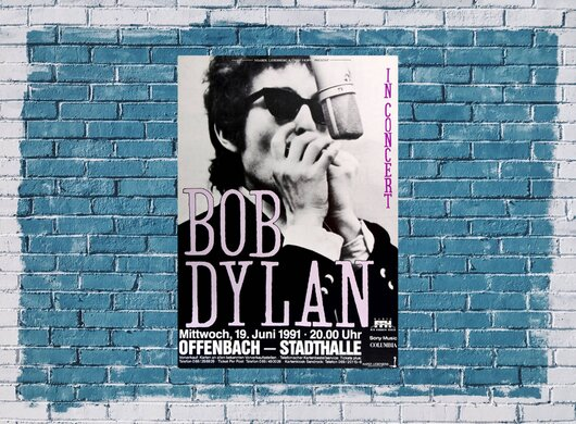 Bob Dylan and His Band - Under Red Sky, Offenbach & Frankfurt 1991 - Konzertplakat