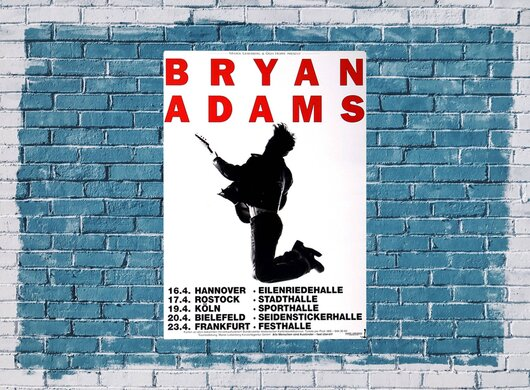 Bryan Adams - Let Me Play, Tour 2005 - Konzertplakat