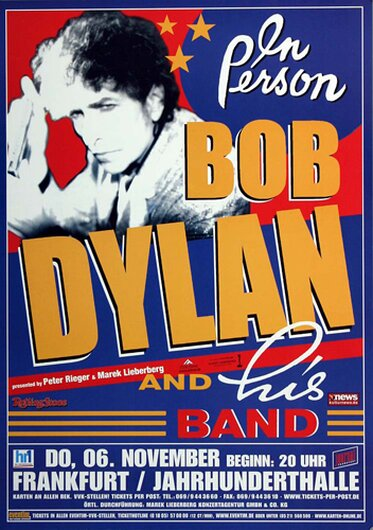 Bob Dylan and His Band - The Essential, frankfurt 2003 - Konzertplakat