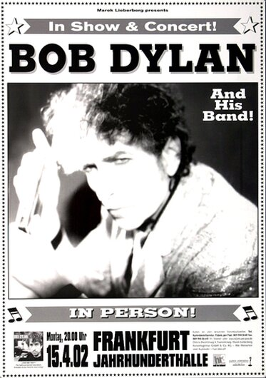 Bob Dylan and His Band - Love and Theft, frankfurt 2002 - Konzertplakat