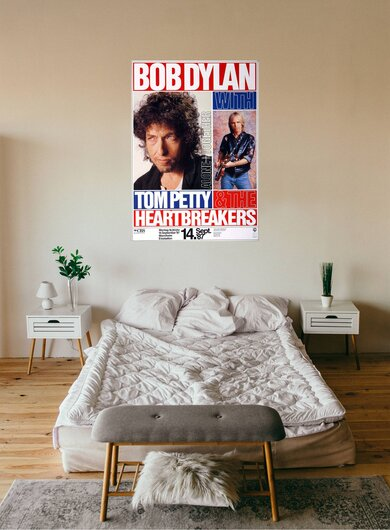 Bob Dylan & Tom Petty - Alone & Together, Mannheim 1987 - Konzertplakat