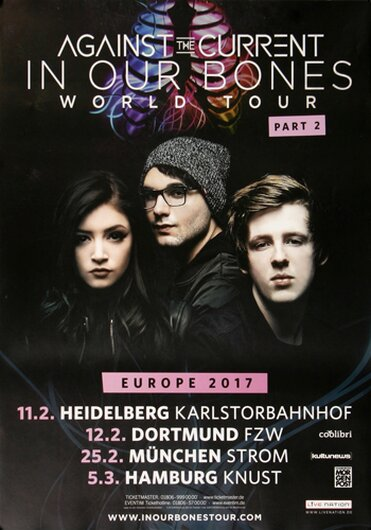 Against The Current - Let Me LOve You, Tour 2017 - Konzertplakat