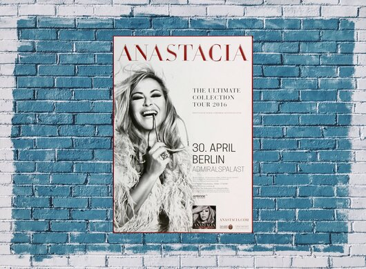 Anastacia - The Ultimate , Berlin 2016 - Konzertplakat