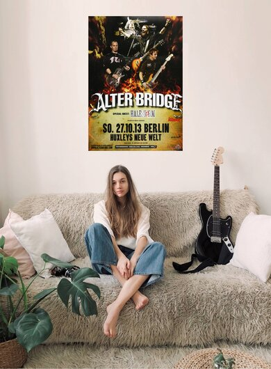 Alter Bridge - Addicted To Pain , Berlin 2013 - Konzertplakat