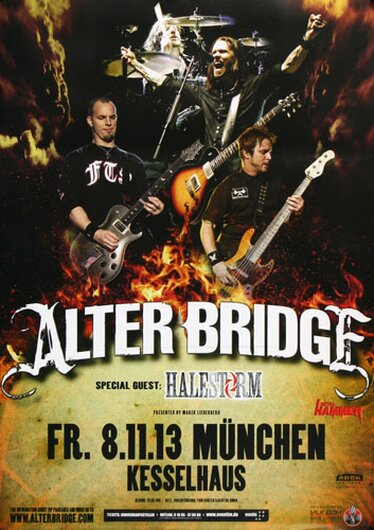 Alter Bridge - Addicted To Pain , München 2013 - Konzertplakat