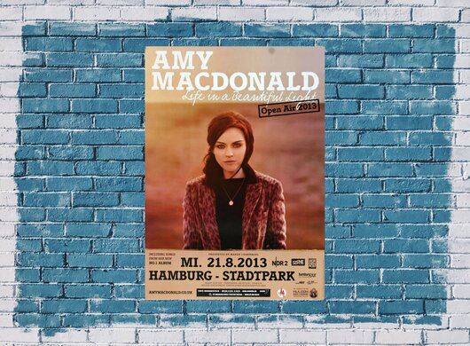 Amy MacDonald - Beautiful Light , Hamburg 2013 - Konzertplakat