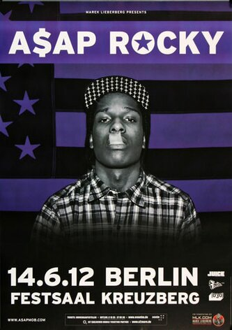 A$AP Rocky - At Long Last, Berlin 2012 - Konzertplakat