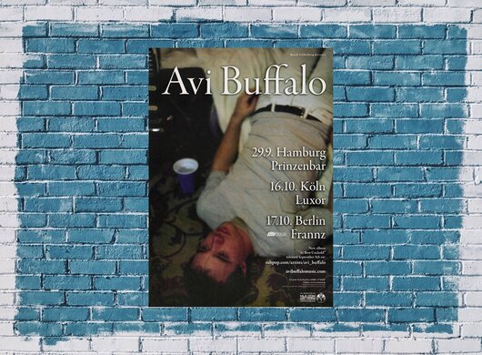 Avi Buffalo - Five Little Sluts, Tour 2014 - Konzertplakat