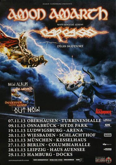 Amon Amarth - Deceiver of the Gods, Tour 2013 - Konzertplakat
