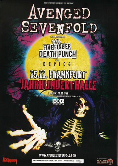 Avenged Sevenfold - Hail To The King , Frankfurt 2013 - Konzertplakat