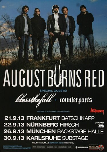August Burns Red - Frankfurt,  2013 - Konzertplakat