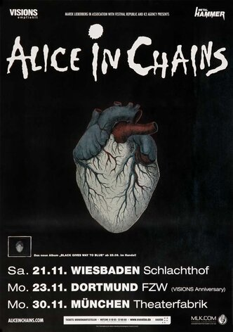 Alice In Chain - Check My Brain, Tour 2009 - Konzertplakat