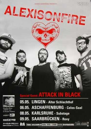Alexisonfire - Young Cardinals, Tour 2007 - Konzertplakat