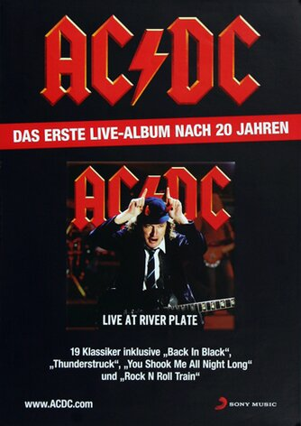 AC/DC - Live At River Plate,  2012 - Konzertplakat