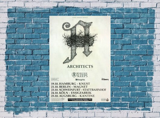 Architects - Daybreacker, Tour 2012 - Konzertplakat
