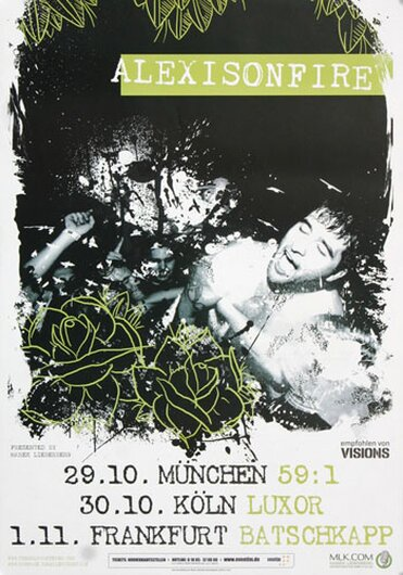 Alexisonfire - Old Crows, Tour 2010 - Konzertplakat
