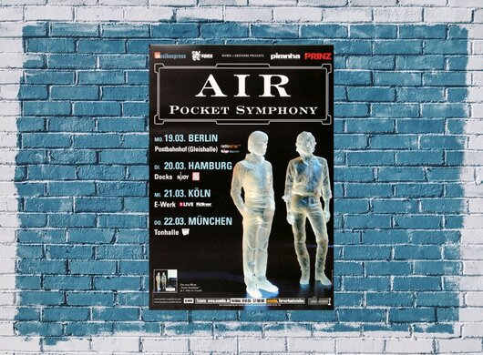 AIR - Pocket Symphony, Tour 2007 - Konzertplakat