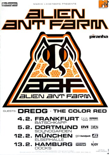Alien Ant Farm - Anthology, Tour 2003 - Konzertplakat