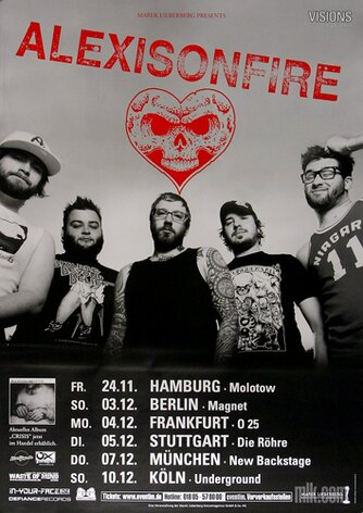 Alexisonfire - Chrisis, Tour 2006 - Konzertplakat