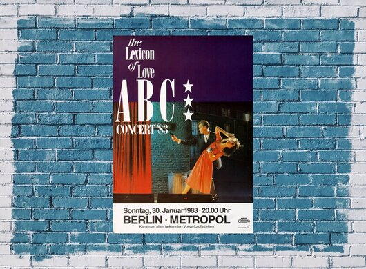 A B C - Lexicon Of Love, Berlin  1983 - Konzertplakat