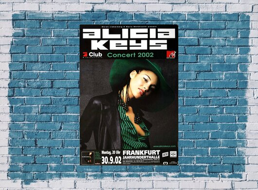 Alicia Keys - Songs In A Minor, Frankfurt  2002 - Konzertplakat