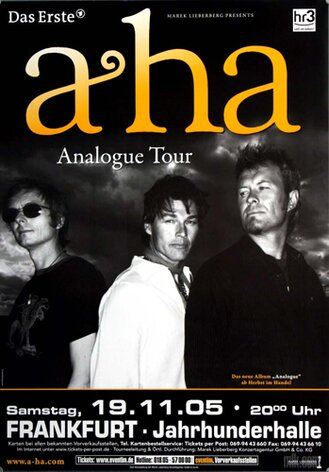 a-ha  - Analogue, Frankfurt 2005 - Konzertplakat
