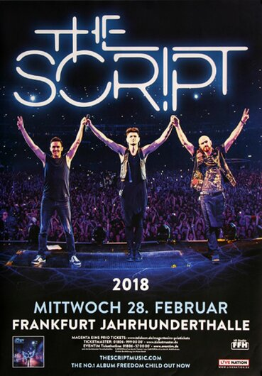The Script - Freedom Child , Frankfurt 2018 - Konzertplakat